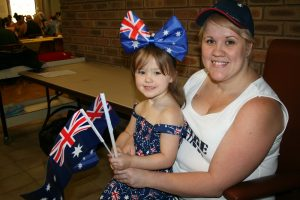 Jade and Amber-Lee Millar of Yanchep at the Australia Day breakfast.
