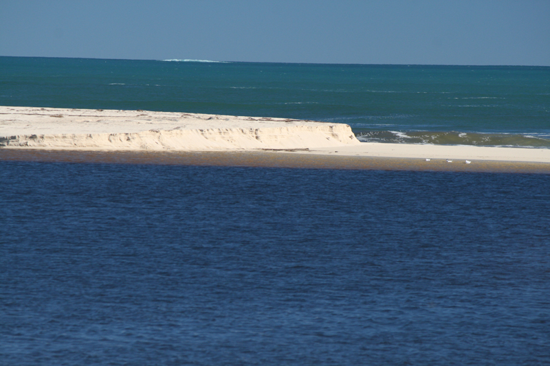 The Moore River sandbar on a quieter day. Pictures: Anita McInnes